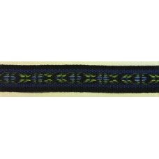 Allmogeband 16mm svart/blå/grön