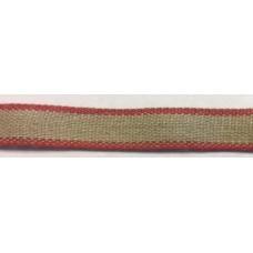 Linband 11mm med röd kant