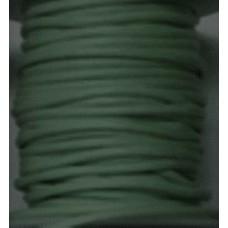 Vaxat bomullssnöre mörk mintgrön