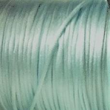 Satinsnöre 2mm ljus turkosblå