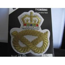Tygmärke Krona