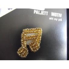Dekormärke med pärlor