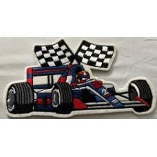 Tygmärke Racerbil