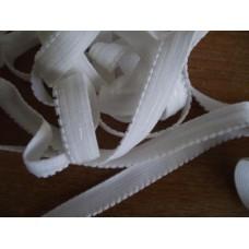 Resår vit med silikontråd