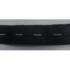 Knapphålsresår 20mm svart