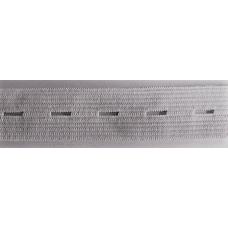Knapphålsresår 20mm vit