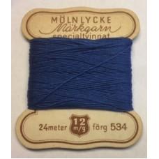 Märkgarn specialtvinnat blå 534