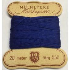 Märkgarn blå 550
