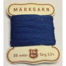 Märkgarn blå 534