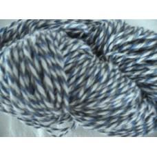 Strumpgarn 4-tr grå/blå/naturvit