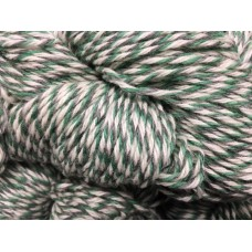 Strumpgarn 4-tr naturvit/grön/grå
