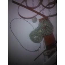 Materialsats tenntrådshalsband rund 4-fläta