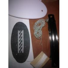 Materialsats hårspänne, ovalt