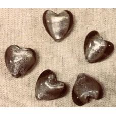Glaspärla hjärta