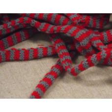 Tubstickat 10mm röd/grå