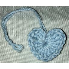 Virkat hjärta ljusblå