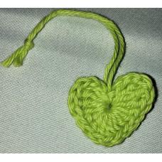 Virkat hjärta gröngul