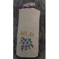 Flaskpåse 40år lila