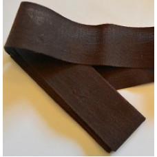 Bomullsband mörkbrun
