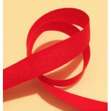 Bomullsband 13 mm röd