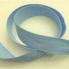 Bomullsband 13 mm ljusblå