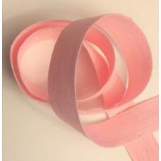 Bomullsband 13 mm ljusrosa