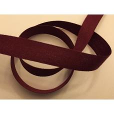 Bomullsband 13 mm vinröd