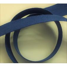 Bomullsband 13 mm blå