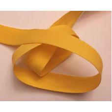 Bomullsband 13 mm gul
