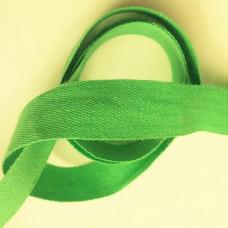 Bomullsband 13 mm grön