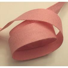Bomullsband 13 mm rosa