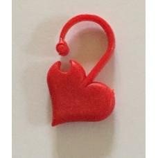 Stickmarkör hjärta