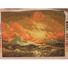 Stramaljtavla Himmel och hav i uppror
