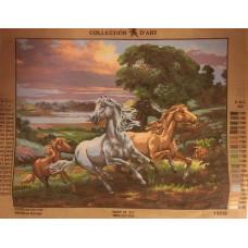 Stramaljtavla Hästar på språng